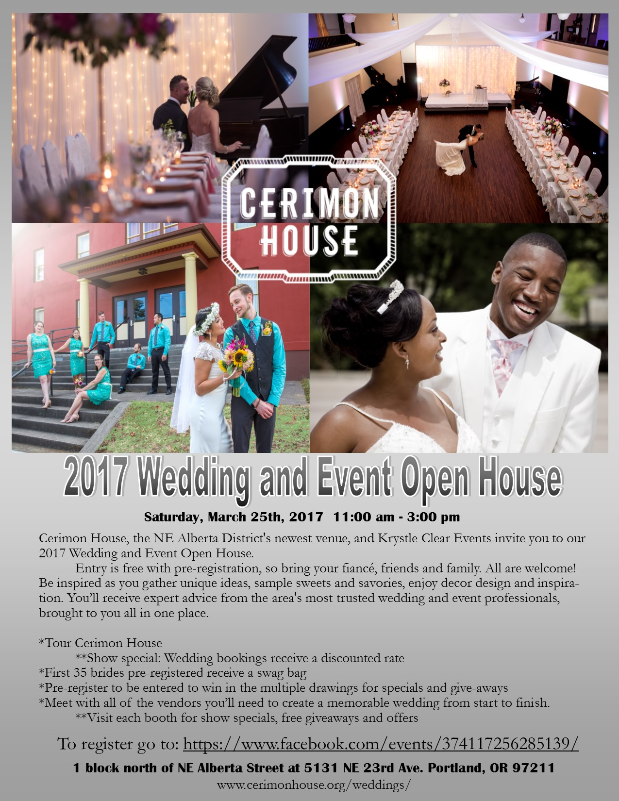 2017 wedding and event open house