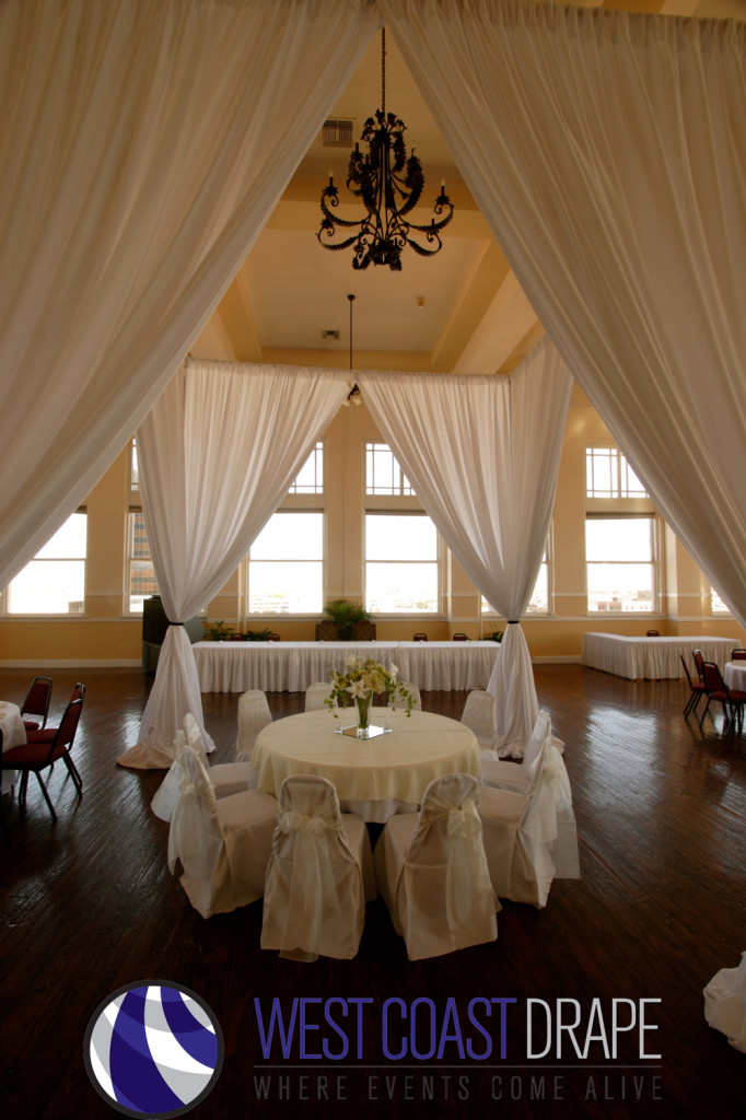 Oregon Wedding Rentals West Coast Drape Blush Furniture