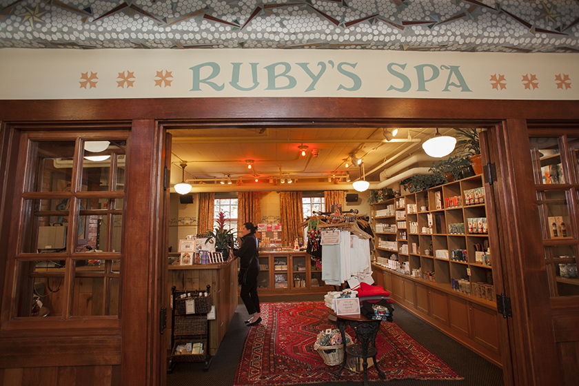 Ruby's Spa Entrance, Grand Lodge.