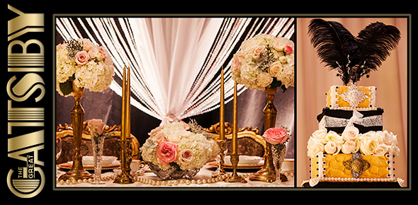 Great gatsby theme headerg wedding and event wedding inspiration the great gatsby wedding design and decor junglespirit Choice Image