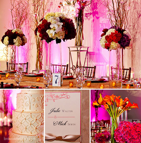 Inspiration board, vibrant urban wedding