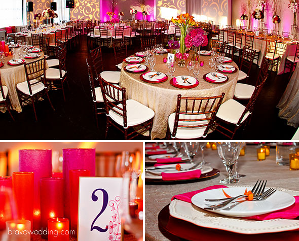 inspiration reception, vibrant urban wedding