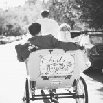 Pedi Cabs for Bride and Groom